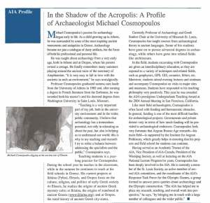 AIA Newsletter Profile Spring 2004